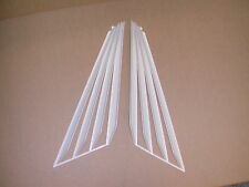 SET OF 3 VK VL COMMODORE AUTO SHADES  / VENETIAN BLINDS (FAN TYPE)