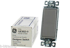 LOT 5 Gray GE 3-Way 20A 120-277V Designer/Decora Switch