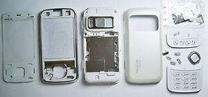 White Fascia housing cover facia faceplate case for Nokia N86