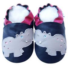 Littleoneshoes(Jinwood) SoftSole Leather HippoNavy Kids Baby Boy Shoes 12-18M
