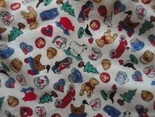 Cute Rose & Hubble Teddies Collection Cotton Fabric Tiny Toys 2 1/8 Yds