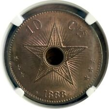 CONGO Free State 1888 10 Centime NGC MS64RB