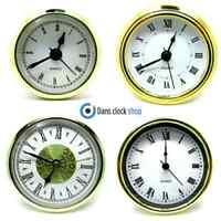 New Quartz Replacement Gold Bezel Clock Inserts Roman Numbers Rubber Fit WF -188