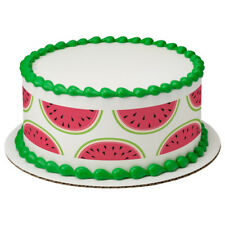 Tropical Paradise Watermelon Edible Cake Border Decoration - Set of 3 Strips