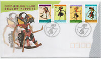 1994 Cocos (Keeling) Islands Shadow Puppets Cover FDC  Mint MNH Set of 4 stamps