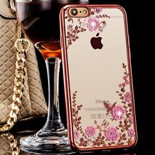 Iphone 6/6s Plus Flower Glitter Case Cover Fashion Pink Apple Premium Quality