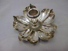 ausgefallener Leuchter Silber 800 punziert Blätter Dekor