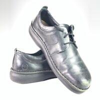 Footprints Birkenstock Unisex Oxford Shoes Black Leather Lace Up W 8 M 6 EU 39