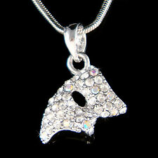 w Swarovski Crystal ~Phantom of the Opera Masquerade Mask Charm Necklace Jewelry
