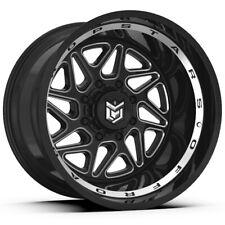 """4-Dropstars 657BM 20x12 8x6.5"""" -44mm Black/Machined Wheels Rims 20"""" Inch"""