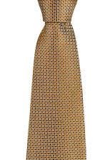 "ITALO FERRETTI Silvi Marina Brown Checks 3.5"" Handmade Silk Neck Tie NWT"