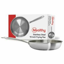 Mealthy 10FRYPAN Stainless Steel Professional-Grade 3mm Thick 5 Layer Frying Pan