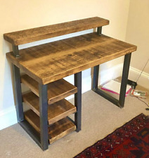 Gorgeous Handmade Office Desk with Integrated Storage Shelving