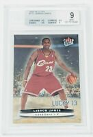 2003-04 Fleer Ultra Lucky 13 LeBron James BGS 9 Mint Serial Numbered 317/500