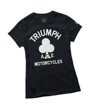 Triumph Motorcycles Brent Cross Tee Ladies Black Ace Cafe T-Shirt NEW MTSA19601