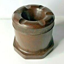 More details for art deco excelite brand mottled brown bakelite inkwell 6.5 x 6 cm's