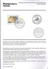 ITALIA 2001 CITTA' DI GORIZIA  BOLLETTINO COMPLETO DI FRANCOBOLLI FDC