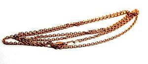 Genuine 9ct Rose Gold Belcher Chain Necklace 60cm 3grams