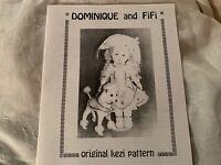 """Vintage KEZI Dominique 17"""" Cloth Doll Pattern, Outfit, FiFi 8"""" Poodle Pattern"""