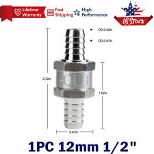 12mm 1/2 Inch Inline Check Valve Fuel Diesel Liquid Oil Air One Way Non Return