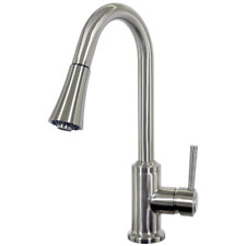 BBQGuys Signature Single Handle Pull-Down Gooseneck Hot/Cold Faucet