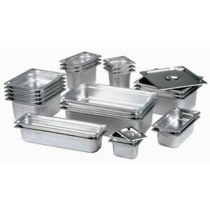 Stainless Steel Gastronorm Pan Gastro Container Tray Bain Marie Food Pot Lid