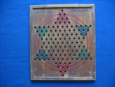 Milton Bradley Chinese Star Checkers vintage wooden game board