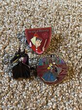 Disney Sleeping Beauty Anniversary Pin LOT Maleficent Dragon Aurora Pins LE