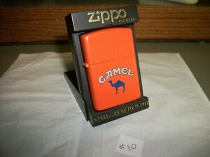 """""""UNFIRED"""" Camel Cigarette 1993 Zippo Lighter/Orange with  Box & Papers"""