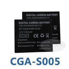 2X CGA-S005E Battery for Panasonic Camera Lumix DMC-FX01 FX8 DMC-LX1 LX2 LX3 LX9