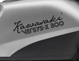 KAWASAKI VERSYS-X 300 motorbike bike logo decals CUSTOM COLOUR Vinyl Sticker