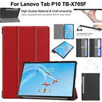 Slim Book Leather Case For Lenovo Tab P10 TB-X705F Smart Magnetic Stand Cover