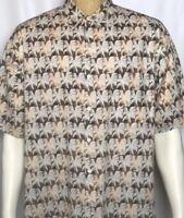 Tori Richard Short Sleeve Button Front Hawaiian Aloha Cotton Camp Shirt Men's XL