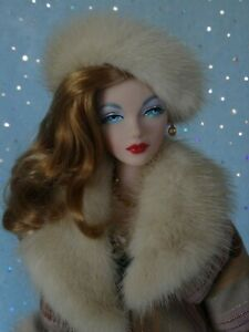 "AllforDoll FUR COAT HAT for 16""- Tonner Ficon Gene BJD Madra Deja Vu Marion Doll"