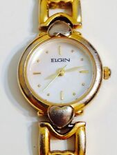 Elgin Ladies Designer Mother Of Pearl Good Condition Working Quartz Watch