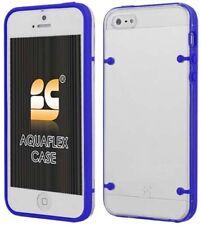 BLUE CLEAR AQUAFLEX HARD CASE SOFT TPU COVER SKIN FOR iPHONE 5 5s SE (2016)