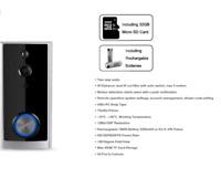 V-TAC Smart Doorbell WiFi Wireless Motion Activated Video ringbell 2 Way Talk