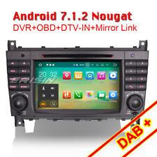 Android 7.1 Car Stereo Sat Nav Mercedes Benz C/CLC/CLK Class W209 W203 OBD DAB+