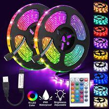 LED Strip Lights 5050 RGB Colour Changing Tape TV Under Cabinet Kitchen Lighting