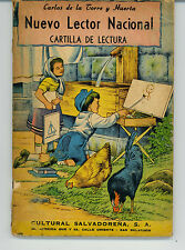 Nuevo Lector Nacional Cartilla De Lectura Carlos Torre Huerta Salvadorena 1955