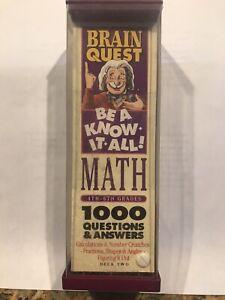 Brain Quest Math - Be a know it all - NEW grades 4-6