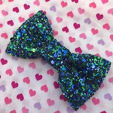Galaxy Green Glitter Hair Bow...Kawaii / Lolita / Cute