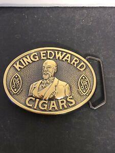 VINTAGE 1970s **KING EDWARD CIGARS** TOBACCO BELT BUCKLE NOS NEW