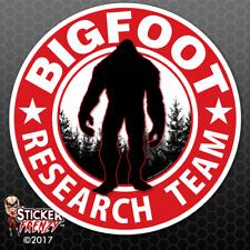 "Bigfoot Research Team ""RED"" Sticker - Sasquatch Yeti Car Truck Window Decal"