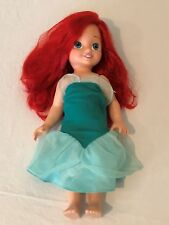 """My First Disney Princess Toddler 15"""" Ariel Doll with Dress Red Hair"""