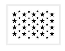 Motiv-Schablone ● kleine Sterne