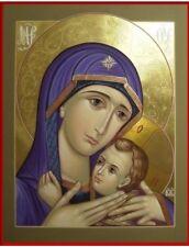 Theotokos Panagia MADE TO ORDER Handpainted Eastern Orthodox Byzantine icon 22k