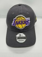 NEW ERA 9TWENTY ADJUSTABLE HAT .  NBA.  LOS ANGELES LAKERS. CHARCOAL GRAY.
