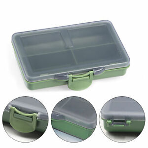 Durable Multi-Grid PE Plastic Fish Hook Bait Fishing Storage Box with Clear Lid