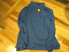 Greg Norman Men's Golf Play Dry Long Sleeve Pull Over Top 1/4 Zip XL Blue NWT!!!